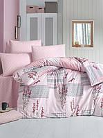 Постельное белье LIGHTHOUSE ranforce BURCAK розовый Евро