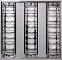 Светильник люминесцентный растровый встроенного типа e.lum.raster.flush.3.14.el с электронным ПРА, лампа Т5 3х14W