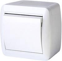 Выключатель одноклавишный e.aqua.1111.gr для внешнего монтажа, IP44