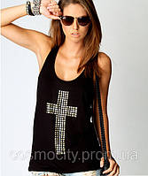 Майка-борцовка с крестом Уценка!