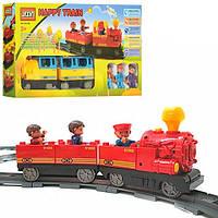 Конструктор для малышей Jixin 6188 D Мой первый поезд / Железная дорога 36 дет (0440) аналог Лего Дупло