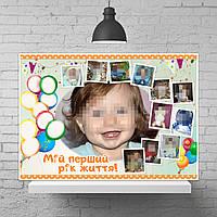 Плакат-фотоколлаж с местом для пожеланий