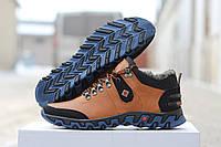 Мужские кожаные ботинки зимние на меху Columbia