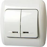 Выключатель e.install.stand.812L двухклавишный с подсветкой