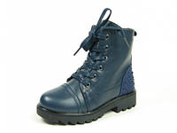 Детские зимние ботинки Clibee:K-26 тем.Синий, р. 27-32