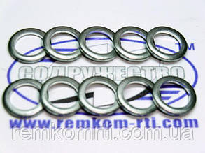 Шайба алюминиевая 10*14-2 кольцо алюминиевое уплотнительное слива форсунки (обратка) КаМаЗ, МАЗ