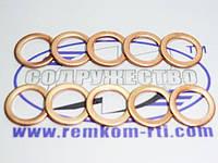 Шайба медная 10*14-1 кольцо медное уплотнительное слива форсунки (обратка) автомобиль КамАЗ / МАЗ