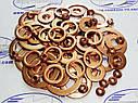 Шайба медная 10*16-1 кольцо медное уплотнительное слива форсунки (обратка) трактор МТЗ / ЮМЗ / СМД, фото 2