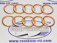 Шайба медная 16*20-1 кольцо медное уплотнительное плунжерной пары ЛСТН