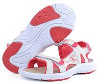 Сандалии женские спортивные Badoxx Польша белые с розовым на липучках, Розовый, 37