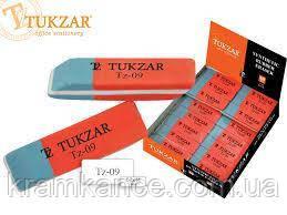 Ластик TUKZAR TZ-09 двусторонний красно - синий, фото 2
