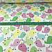 Фланель детская птички розовые, желтые, салатовые на белом №457, фото 3