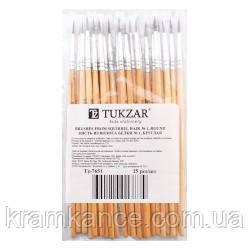 Кисточка для рисования №3 белка TUKZAR TZ-7653, фото 2