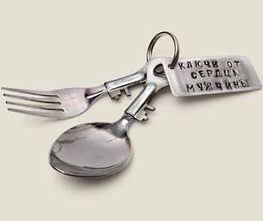 Оригинальный сувенир - Ключи от сердца мужчины купить подарок прикол