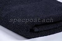 Полотенце махровое черное Пакистан 30х50