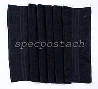 Полотенце махровое черное Пакистан 40х70