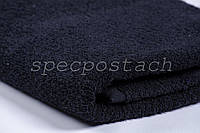 Полотенце махровое черное Пакистан 50х90