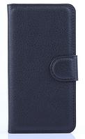 Кожаный чехол-книжка для Sony Xperia Z1 Compact d5503 черный
