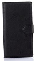 Кожаный чехол-книжка для Sony Xperia M4 Aqua черный