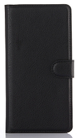 Кожаный чехол-книжка для Sony Xperia C5 Ultra Dual E5533 черный