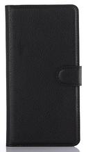 """Кожаный чехол-книжка для Sony Xperia C5 Ultra Dual E5533 (6"""") черный"""