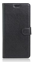 """Кожаный чехол-книжка для Sony Xperia XA Ultra Dual / C6 Ultra (6"""") черный"""