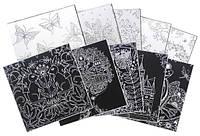 Гравюра-раскраска 8073 Антистресс (15*15 см.)