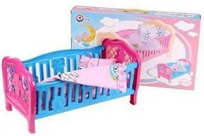 Детская кроватка Технок 4494, игрушка кроватка 4494 для кукол