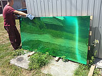 Лист нержавеющий с напылением оксидом титана под зелёный