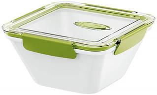 Контейнер квадратный BENTO BOX, бело-зеленый, 1,5 л EMSA EM513961