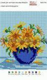 Ткань с рисунком для вышивки бисером Серия цветов: Календула (полная зашивка)