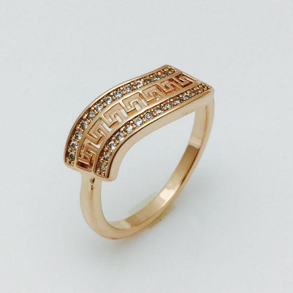 Женское кольцо Греческий листок, размер 17 ювелирная бижутерия