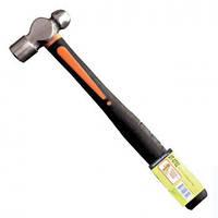 Молоток слесарный 340г.20 мм, круглый боек, ручка из стекловолокна Intertool UT-0702