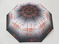 """Женский зонт полуавтомат """"Suun Rain"""" абстрактный принт"""