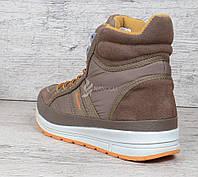 Ботинки женские замшевые коричневые на шнуровке Jazz TM Restime, Коричневый, 40