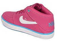 Кроссовки слипоны кожаные Nike Suketo розовые , Малиновый, 40