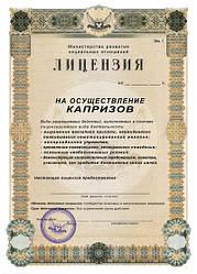 Оригинальная лицензия на осуществления капризов А4 купить подарок прикол