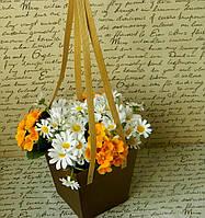 Декоративна коробка для квітів W 6001, 13,5*13,5*15 Декоративная коробка для цветов