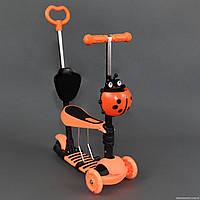 Самокат детский трехколесный Scooter 4в1 S 00039, оранжевый ***