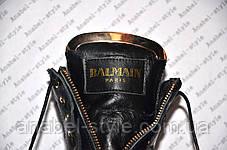 Ботиночки женские стильные Balmain Paris натуральная кожа, фото 3