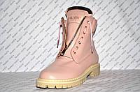 54dc9352b73f Ботиночки женские стильные Balmain Paris натуральная кожа розового цвета  Код 294