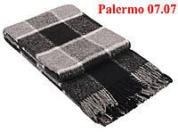 Плед  полуторный 140х200, тм. VLADI, Палермо «Palermo» 07.07 (бел-сер-черн)