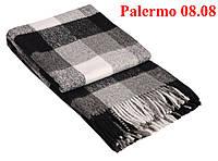 Плед  полуторный 140х200, тм. VLADI, Палермо «Palermo» 08.08 (бел-сер-т.сер)