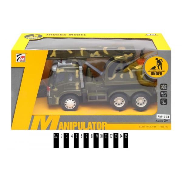 Машина кран на радиоуправлении 7М-394, звук, свет