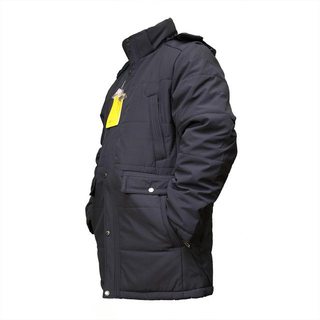 Теплые мужские куртки больших размеров мужские  EJM-55  Black , фото 2