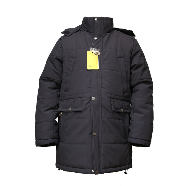 Теплые мужские куртки больших размеров мужские  EJM-55  Black , фото 3
