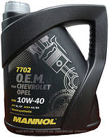 Моторное масло 7702 Mannol O.E.M. for CHEVROLET OPEL 10W-40 (4л)