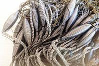 Рыболовная сеть финская трехстенная, ячейка 45-50, 30 метров, вшитый груз, для промышленного лова