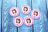 """Кабошон """"Софія в круглій рамці"""" 3,3 х 3,3 см, 25 шт/уп. оптом"""