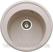 Гранитная круглая мойка для кухни Argo Tondo Avena 510*200
